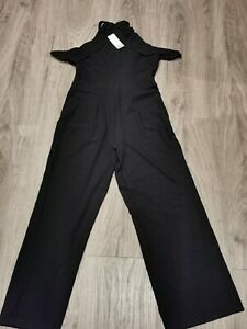 Next Lipsy Black Ruffle Halter Jumpsuit - UK 16 - New with Tags