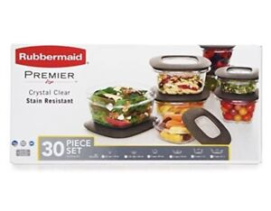 Rubbermaid Premier Food Storage Container 30 Piece Set - Grey New Sealed