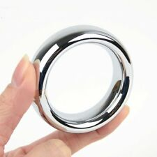 "1.75"" Thick Heavy Stainless Steel Metal Silver Cock Ring Male Penis Enhancer"