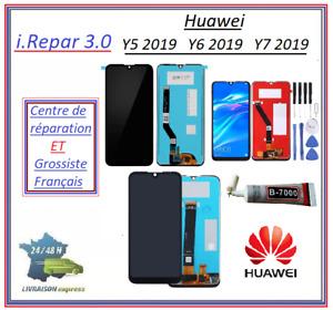 Ecran Lcd Origine+vitre Huawei Y5-2019-Y6-2019-Y7-2019-Noir-avec ou sans chassis