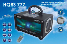 Boombox USB Radio Portable LED Light Organ FM Car Scan & SD Cards Mount 220V