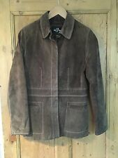 Vintage Vestry Brown Suede Jacket/1980's/90's/Real Leather/Retro/Classic Fit