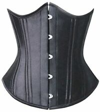 Corset Steel Boned Underbust Waist Training Tightlacing Tummy Control XS-6XL