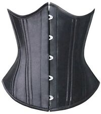 Training Corset Steel Boned Black Underbust Size XS-6XL