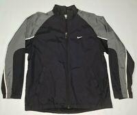 Vintage Nike - Full Zip Windbreaker / Track Jacket - Men's Medium - Black & Gray