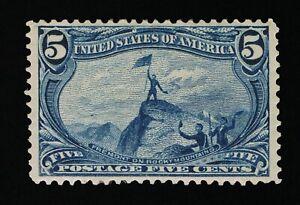 AFFORDABLE GENUINE SCOTT #288 F-VF MINT OG NH 1898 5¢ TRANS-MISS EXPO  #11610