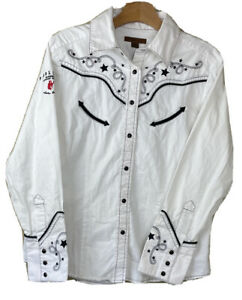 PENDLETON Pearl Snap Embroidered Western Shirt Men's LG Canadian Whisky