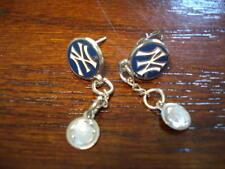 New York Yankees Dangle Stud Earrings w/crystals NEW!