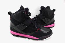 NIKE Air Jordan Flight 45 High Black Pink White Sneakers 5.5Y 384520-006