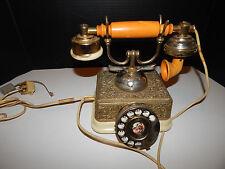 Rotary ANTIQUE Victorian French Cradle Telephone Vintage Bakelite? JAPAN DAMAGED