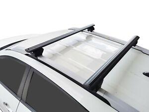 Alloy Roof Rack Cross Bar for Hyundai ix35 2009-15 With Raised Rails Black 135cm