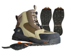 SIZE 13 KORKERS REDSIDE WADING FISHING BOOT STUDDED + KLING-ON RUBBER 2 SOLES