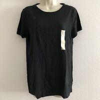 Universal Thread women's medium top t-shirt loose fit black short sleeve cotton