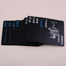 Quality Black PVC Poker Magic Playing Cards Travel Table Game Plastic Waterproof