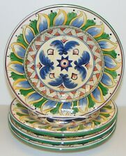 """Tabletops Unlimited DERUTA Set of 4 Hand Painted Salad Plates 8.5"""" b"""