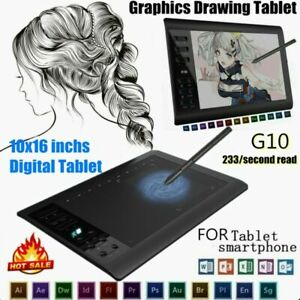 New 10*6'' IPS HD Graphics Drawing Digital Tablet Monitor Pen Display 233 Point