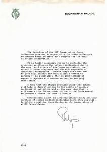 Autograph Prince Philip, original, eigenhändig, zur WWF Briefm.-Sammlung. Rar!
