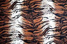 Natural Black Brown Royal Tiger Stripe Very Soft Faux Fur HQ Fabric ~ Free S&H