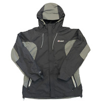 Berghaus Ladies Jacket Black Hooded Zip Outdoor Weatherproof Size 18