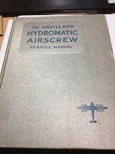 De Havilland Hydromatic Airscrew & CSU Service Manual ex-RAE QinetiQ