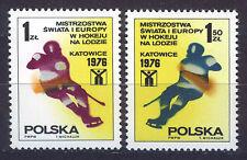 POLONIA/POLAND 1976 MNH SC.2153/2154 Ice Hockey World Champ.