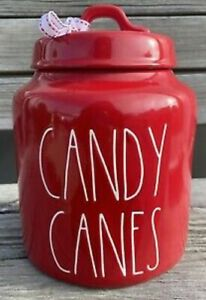 Rae Dunn Red Candy Canes Canister