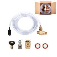 """Pressure Washer Chemical Injector Set Adjustable Soap Dispenser 3/8"""" 2-5 GPM Kit"""