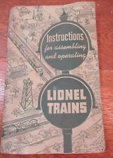 Vintage 1951 Lionel Train Booklet - Instruction For Assembling And Operating