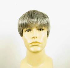 Perruque homme 100% cheveux naturel gris poivre et sel STEVE 51