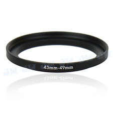 43-49mm Step-Up Metal Adapter Ring / 43mm Lens to 49mm UV CPL Filter Accessory
