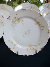 HAVILAND #9196 (c.1907+) BREAD PLATE(s)- YELLOW/BLUE FLORAL- RARE! BEAUTY! GILT!