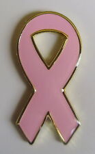 New Breast Cancer Awareness Pink Ribbon Hat Label pin Tie Tac Women Ladies