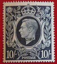 « Specimen » GB 1939-42  10 /-roi George VI  no gum Great Britain Angleterre