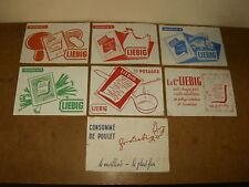 7 anciens buvards - marque LIEBIG potages & consommé de poulet - années 50's