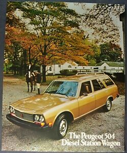 1975 Peugeot 504 Diesel Station Wagon Sales Brochure Sheet Excellent Original 75