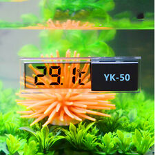Lcd 3D Digital Electronic Measurement Fish Tank Aquarium Thermometer Random