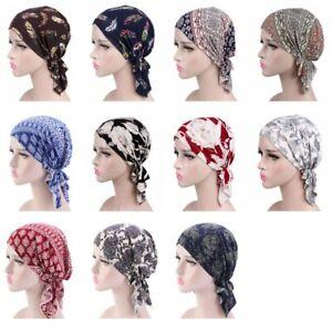 Women Soft Wrinkle Head Scarf Hats Turban Headwear Bandana Headscarf Cover Cap