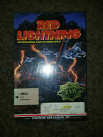"""AMIGA """"RED LIGHTNING""""  WWIII COMPUTER GAME World War 3. FACTORY SEALED"""