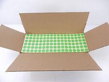 51 000 Etiketten ohne Lochrand 6-bahnig/ grün 15mm Kreis NEU OVP