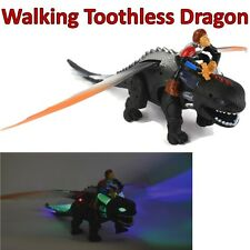 """18"""" Walking Toothless Hiccup tren Your Dragon Dinosaur How To Luces Dinasour"""
