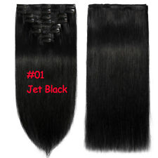 Clip in Human Hair Extensions DIY Weft Real Remy Hair Blonde Black Realistic MY