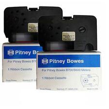 Original OEM Pitney Bowes B700 B721 RED Franking Machine Ink Ribbon Cassette x2