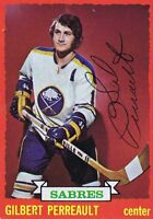 Gilbert Perreault 1973 Topps Autograph #70 Sabres