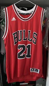 NBA CHICAGO BULLS JIMMY BUTLER 2016 JERSEY SWINGMAN ADIDAS NBA SIZE M PREOWNED