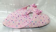 Colorful & Comfortable Women household Slippers Pink Polka Dot Size 7/8.5 140C