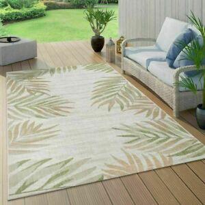 Tropical Rugs Modern Palm Tree Design Rugs Outdoor Beige Green Flat Patio Mats