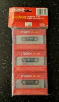 Studio LN60 Blank Audio Cassette (3-Pack) Vintage New Sealed Recordable