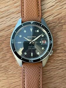 Bulova Accutron Deep Sea 666 'Devil Diver' tuning fork watch, 1968, Serviced.