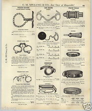 1937 PAPER AD Tower's Leg Irons Ball & Chain Peerless Hand Cuffs Police Twisters
