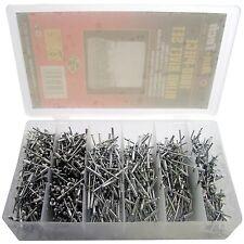 1000 VARIOS MANO Ciego Remache POP aluminio cabeza acero mango 4 Tamaños S5105